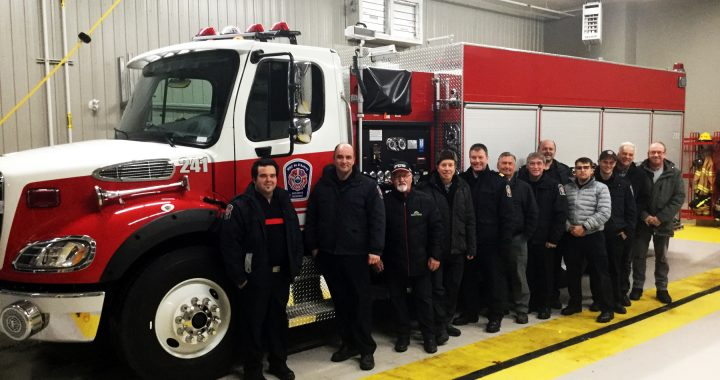 Un nouveau camion pour le Service de sécurité incendie de la MRC
