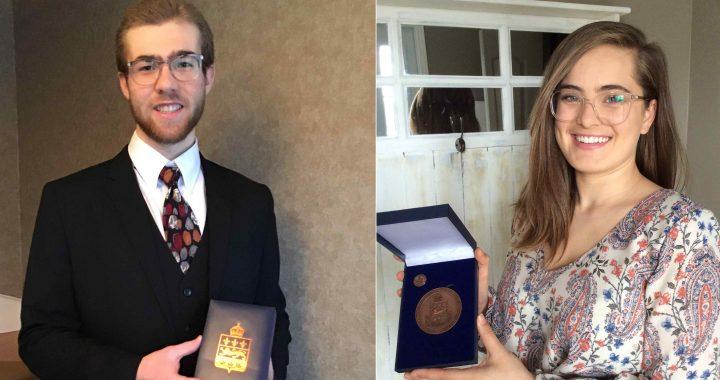 Deux étudiants du Cégep à L'Assomption reçoivent la Médailledu Lieutenant-gouverneur pour la jeunesse 2020