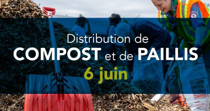 Distribution gratuite de compost et de paillis aux citoyens