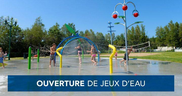 Chaleur : Ouverture exceptionnelle de huit jeux d'eau pour les 48 prochaines heures