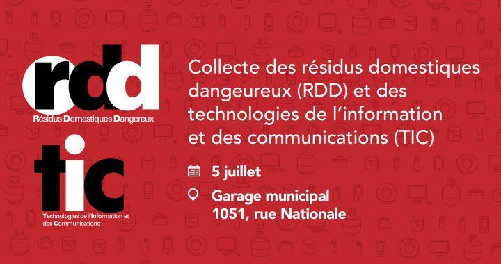 Collecte des résidus domestiques dangereux et des technologies de l'information et des communications