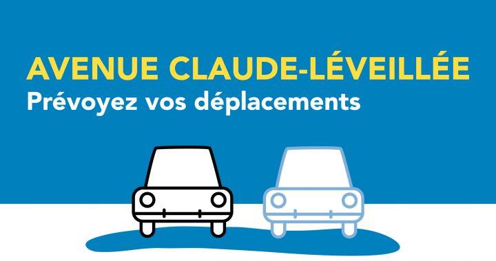 Travaux sur l'avenue Claude-Léveillée – Entrave majeure reportée dans la nuit de lundi à mardi