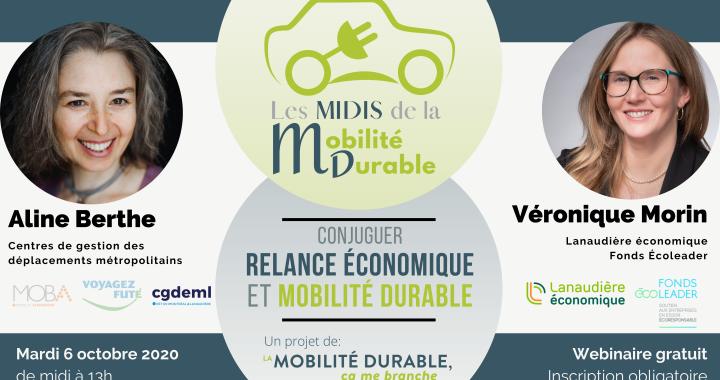 Conjuguer relance économique et mobilité durable