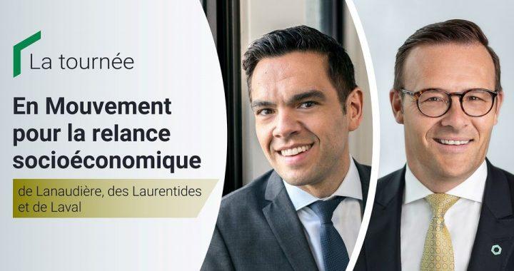 Desjardins et la FCCQ poursuivent dans les régions de Laval, des Laurentides et de Lanaudière la tournée virtuelle En Mouvement pour la relance socioéconomique du Québec