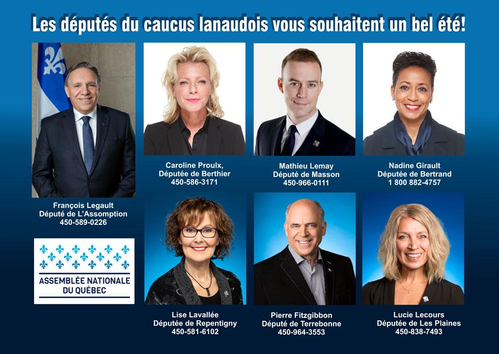 Députés du caucus lanaudois