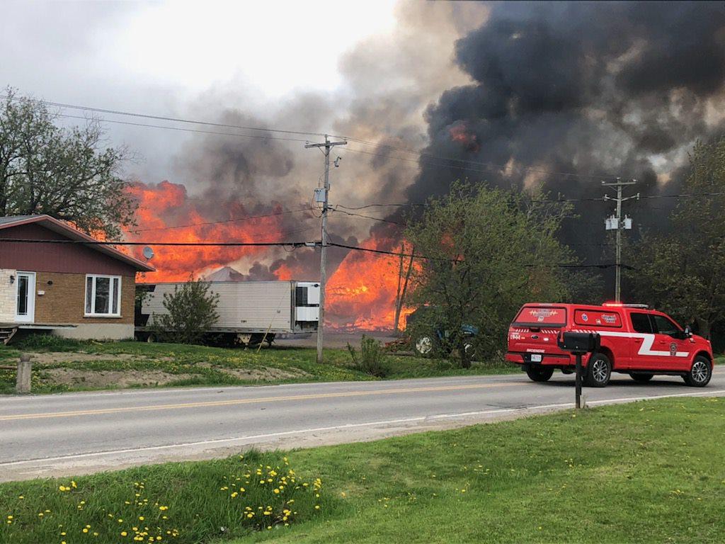 Incendie à Lourdes-de-Joliette